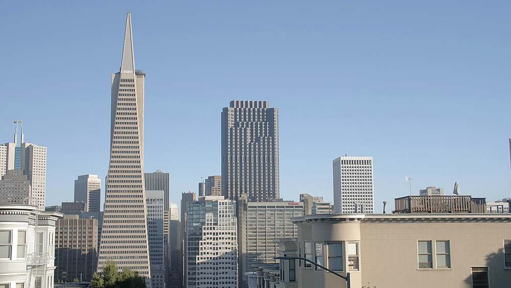 The Transamerica Pyramid in the financial district of downtown San Francisco, Telegraph Hill, California, United States of America, North America