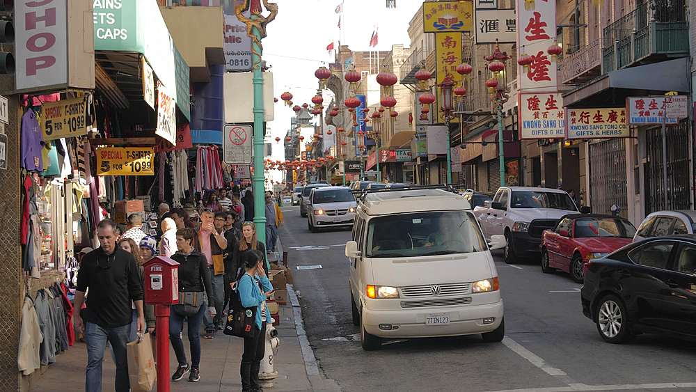 View of traditionally decorated street in Chinatown, San Francisco, California, United States of America, North America - 1276-1336