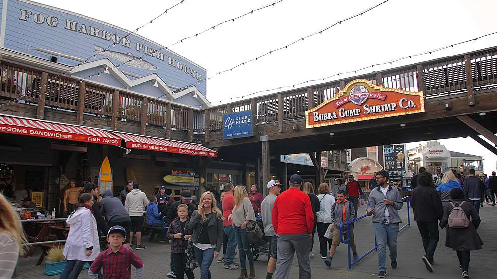 Busy Pier 39 in Fishermans Wharf, San Francisco, California, United States of America, North America - 1276-1362