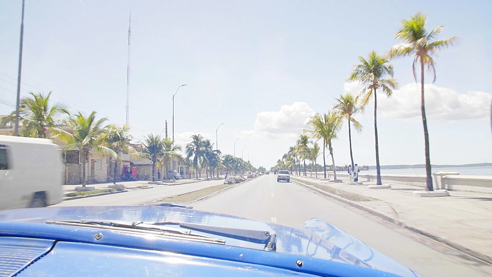 View from taxi on the way to Cienfuegos, UNESCO World Heritage Site, Cuba, West Indies, Caribbean, Central America