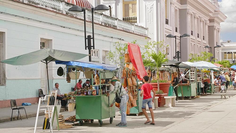 Parque Jose Marti, Palacio del Gobierno (Government House), Cienfuegos, UNESCO World Heritage Site, Cuba, West Indies, Caribbean, Central America