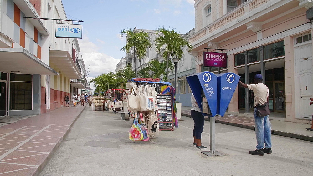 Souvenirs being sold on the street in Cienfuegos, UNESCO World Heritage Site, Cuba, West Indies, Caribbean, Central America