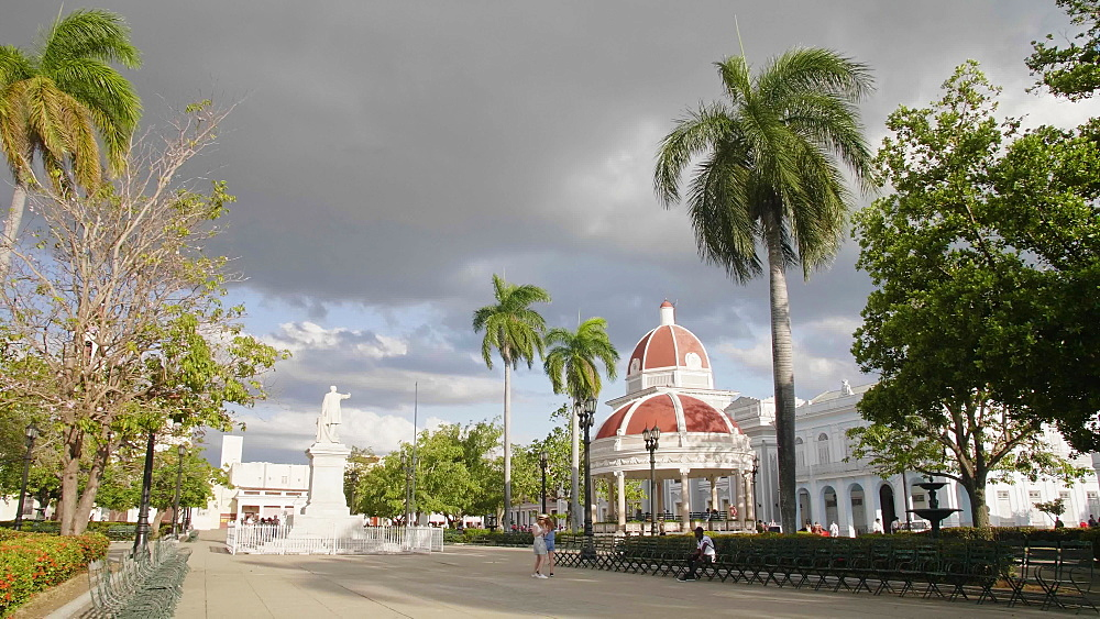 Parque Jose Marti, Palacio del Gobierno (Government House), Cienfuegos, UNESCO World Heritage Site, Cuba, West Indies, Caribbean, Central America