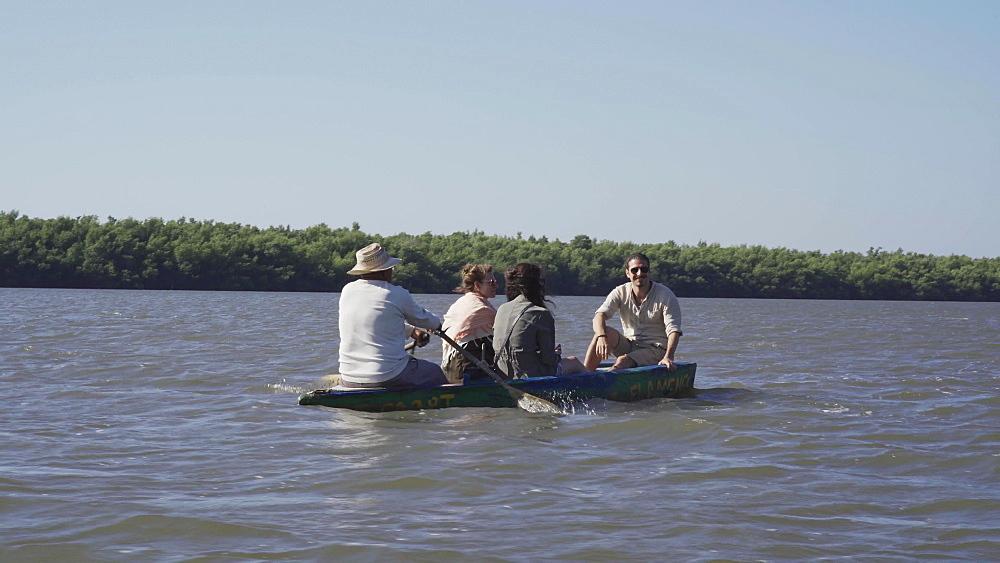 Boat ride at Guanaroca Lagoon Flamingo Reserve near Cienfuegos, Cuba, West Indies, Caribbean, Central America