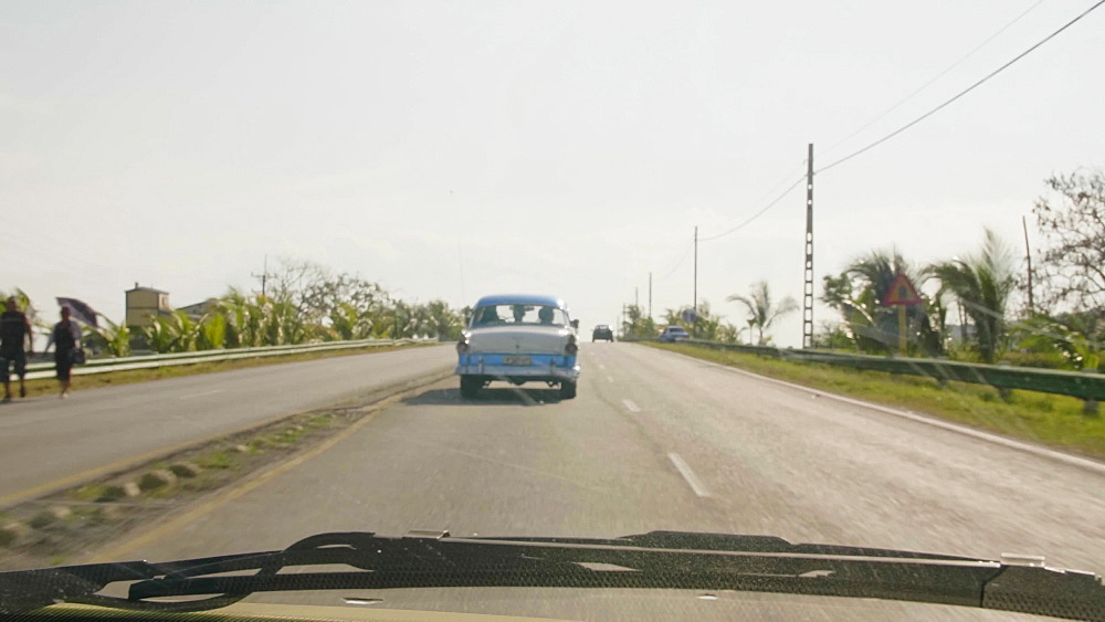 Highway to Varadero form Havana, Cuba, West Indies, Caribbean, Central America