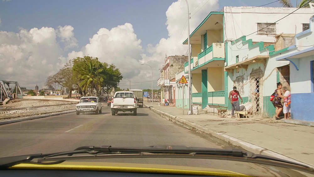 View from the car in Matanzas, Cuba, West Indies, Caribbean, Central America