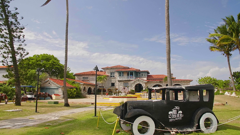 The restaurant Le Casa de Al and house of Al Capone, Varadero, Hicacos Peninsula, Matanzas Province, Cuba, West Indies, Caribbean, Central America
