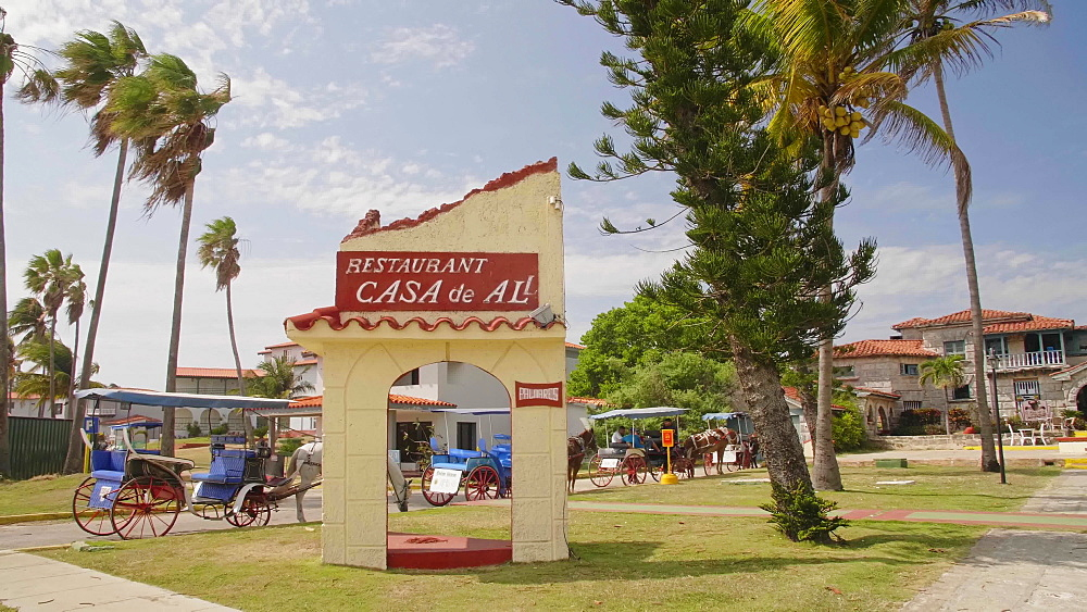 The restaurant Le Casa de Al and house of Al Capone, Varadero, Hicacos Peninsula, Matanzas Province, Cuba, West Indies, Caribbean, Central America