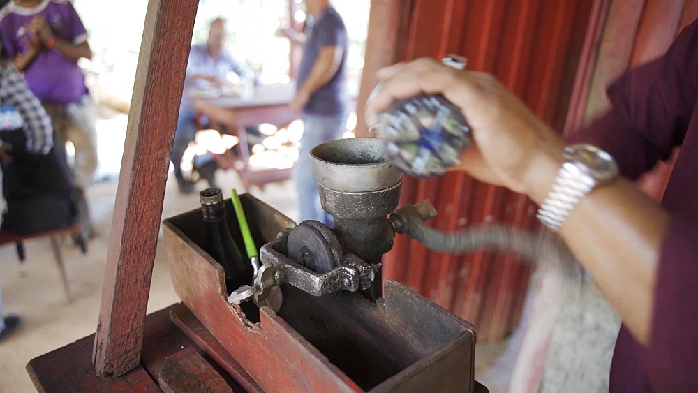Coffee grinder in Vinales National Park, UNESCO World Heritage Site, Pinar del Rio Province, Cuba, West Indies, Caribbean, Central America