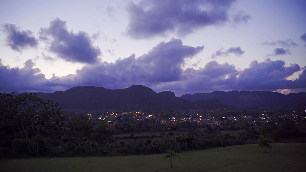 View of Vinales Valley at night, UNESCO World Heritage Site, Pinar del Rio Province, Cuba, West Indies, Caribbean, Central America