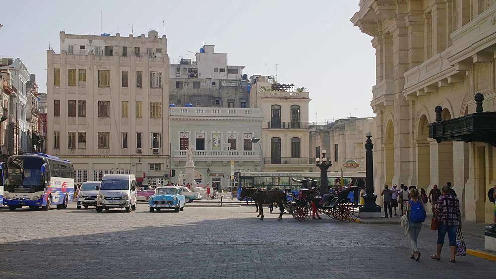 Horse chariot in Havana, La Habana, Cuba, West Indies, Caribbean, Central America