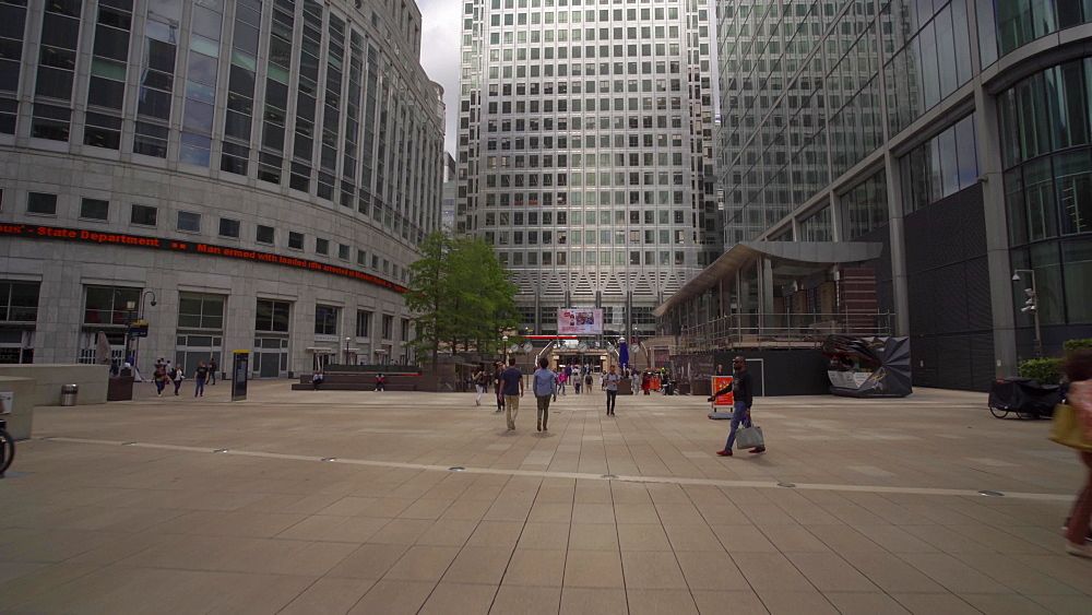 One Canada Square at Canary Wharf, Docklands, London, England, United Kingdom, Europe
