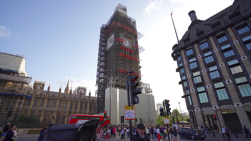Video of Big Ben under construction and Houses of Parliament , London, England, United Kingdom, Europe