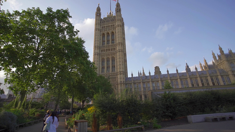 Video of Houses of Parliament and Emmeline Pankhurst Statue, London, England, United Kingdom, Europe