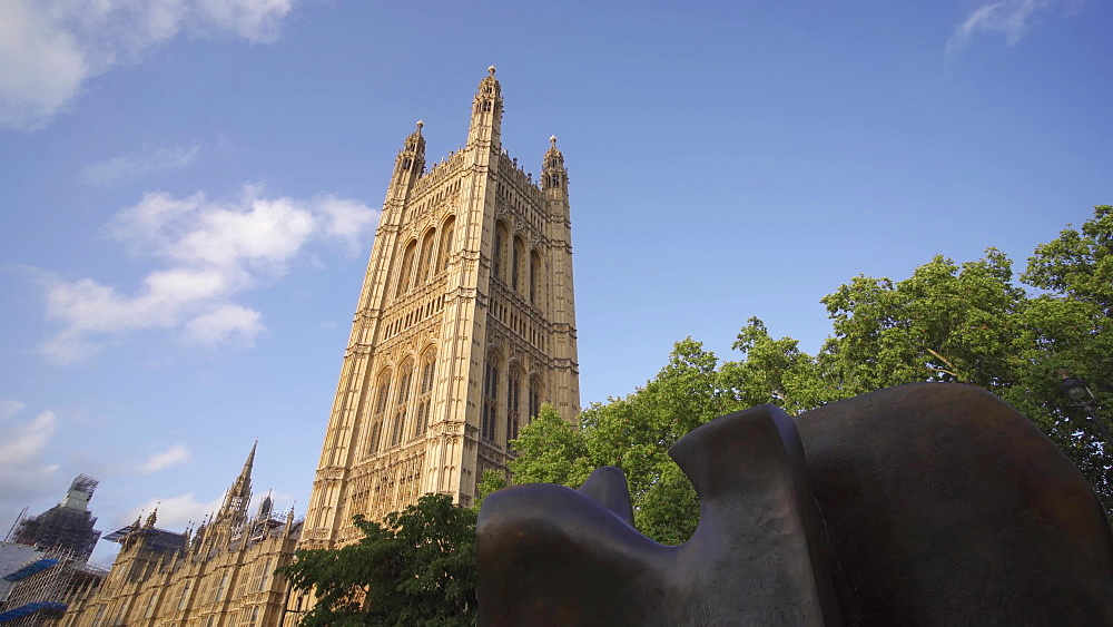 Video of Houses of Parliament from The College Garden, London, England, United Kingdom, Europe