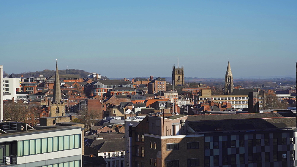 Nottingham skyline, Nottingham, Nottinghamshire, England, United Kingdom, Europe