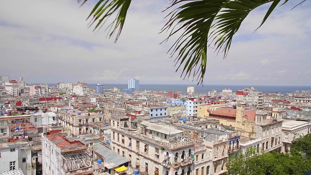 Aerial view of La Habana skyline, Havana, Cuba, West Indies, Caribbean, Central America