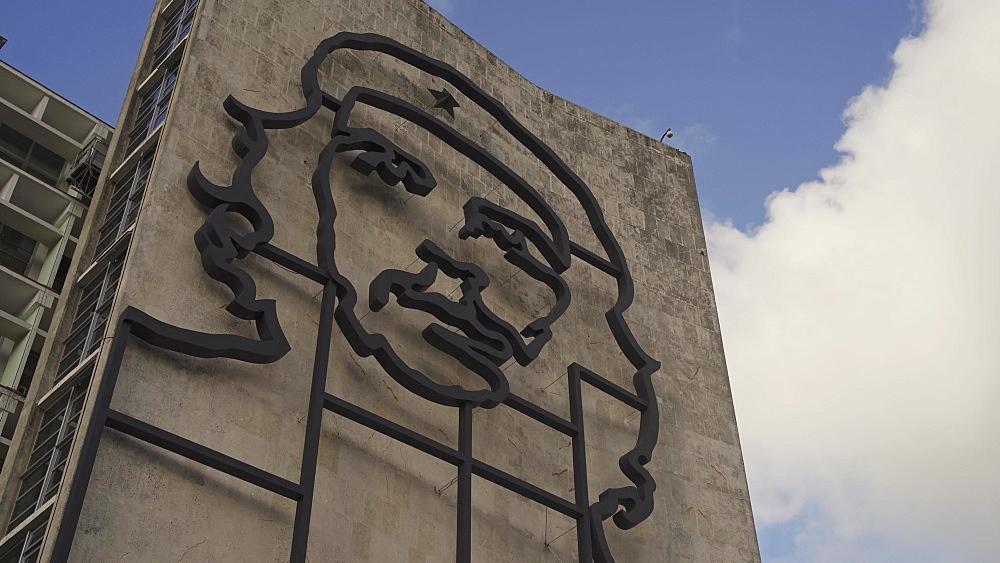 La Plaza de la Revolucion with Che Guevara, La Habana (Havana), Cuba, West Indies, Caribbean, Central America