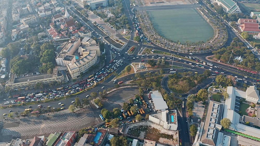 Drone Aerial shot of a Bangkok, Thailand, South East Asia