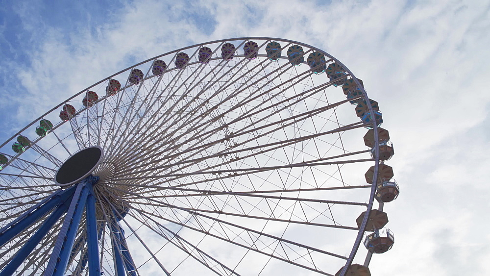Place Bellecour ferris wheel in the city centre of Lyon, Rhone-Alpes, France, Europe