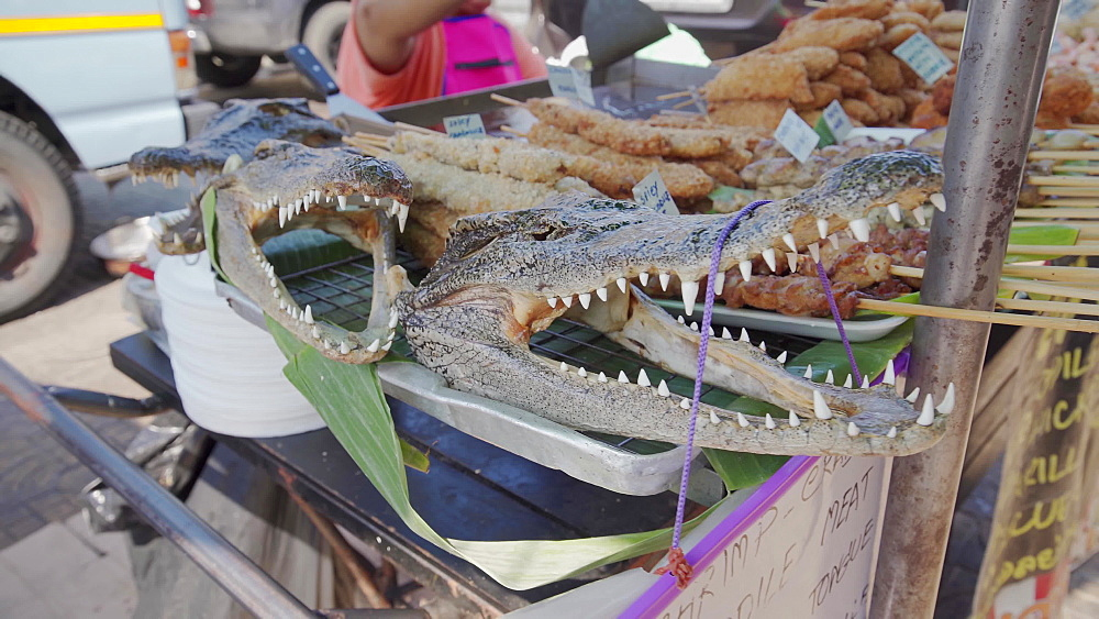 Crocodile skull for sale, Bangkok, Thailand, Southeast Asia, Asia