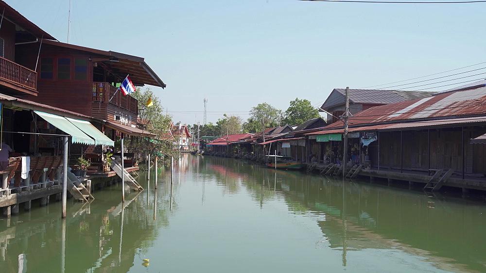 Video of Emtpy Amphawa Floating Market, Bangkok, Thailand, Southeast Asia, Asia