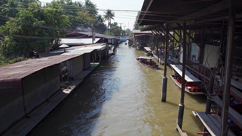Video of Damnoen Saduak Floating River Market, Bangkok, Thailand, Southeast Asia, Asia