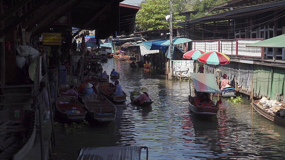 Damnoen Saduak Floating River Market, Bangkok, Thailand, Southeast Asia, Asia
