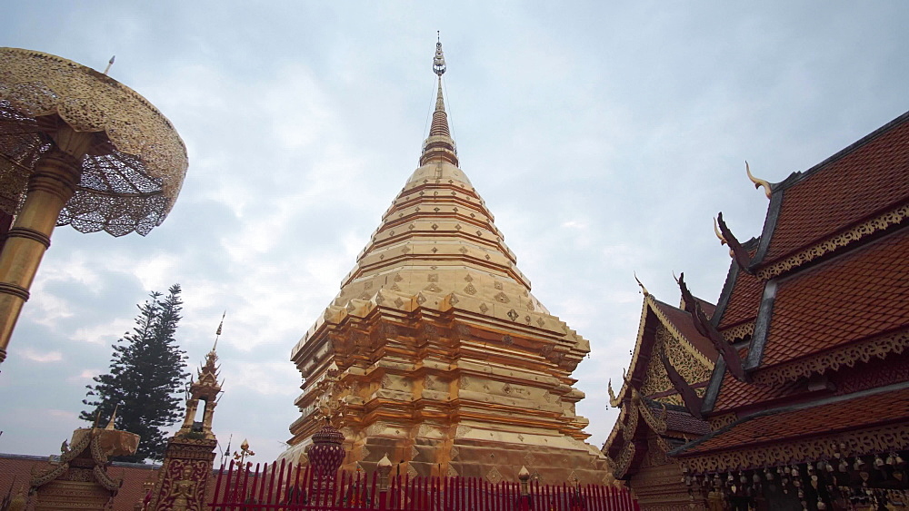 Video of Wat Phra That Doi Suthep temple, Chiang Mai, Thailand, Southeast Asia, Asia
