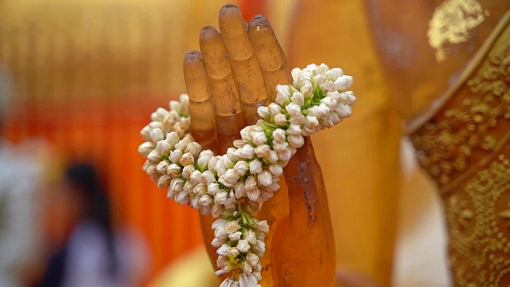 Video of golden Wat Phra That Doi Suthep temple, Chiang Mai, Thailand, Southeast Asia, Asia