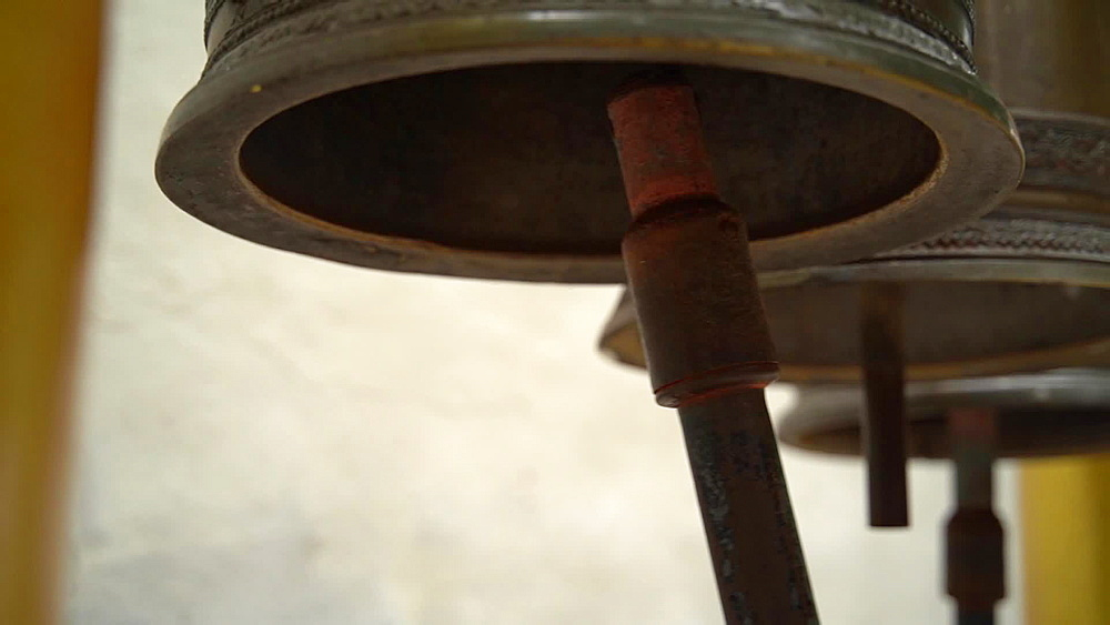 Close up of bells at Wat Phra That Doi Suthep temple, Chiang Mai, Thailand, Southeast Asia, Asia - 1276-2548