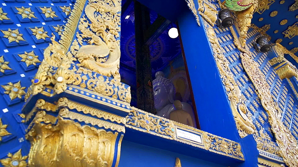 Video of Wat Rong Suea Ten (Blue Temple) in Chiang Rai, Thailand, Southeast Asia, Asia - 1276-2571