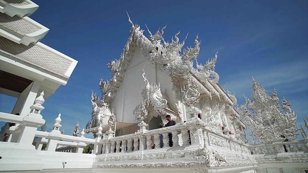 Video of an amazing Wat Rong Khun (White Temple), Chiang Rai, Northern Thailand, Thailand, Southeast Asia, Asia - 1276-2609