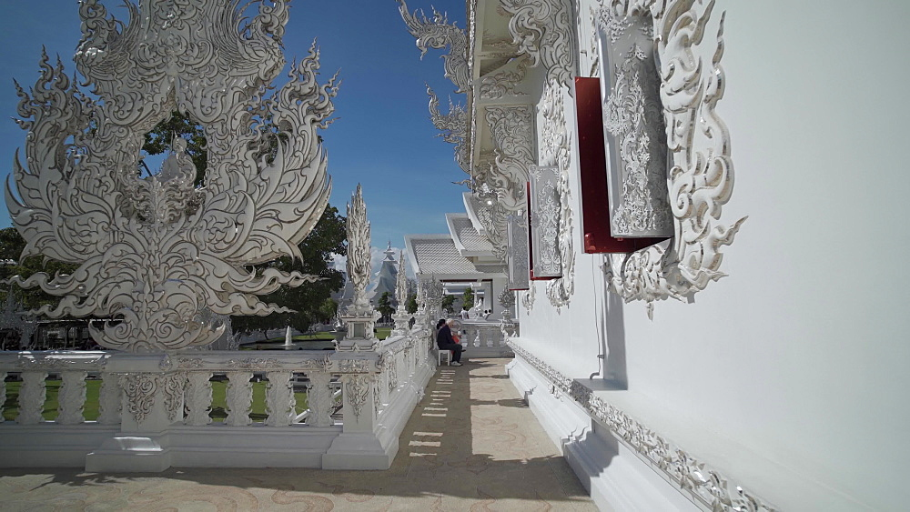 Video of an amazing Wat Rong Khun (White Temple), Chiang Rai, Northern Thailand, Thailand, Southeast Asia, Asia - 1276-2612
