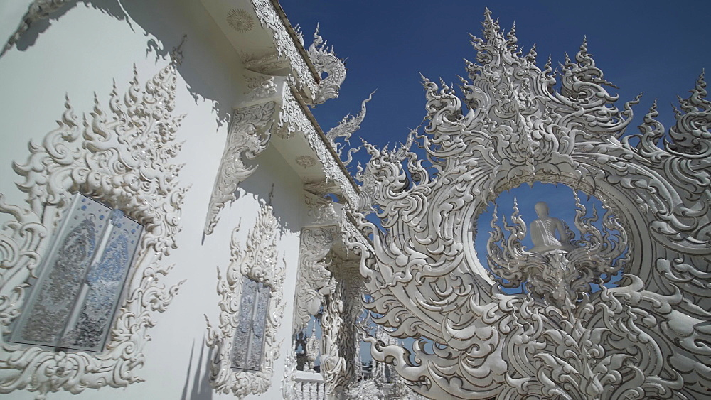Video of an amazing Wat Rong Khun (White Temple), Chiang Rai, Northern Thailand, Thailand, Southeast Asia, Asia