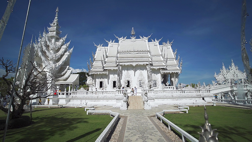 Video of an amazing Wat Rong Khun (White Temple), Chiang Rai, Northern Thailand, Thailand, Southeast Asia, Asia - 1276-2615