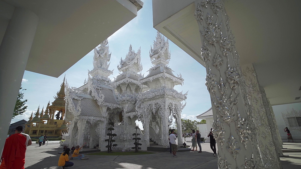 Video of an amazing Wat Rong Khun (White Temple), Chiang Rai, Northern Thailand, Thailand, Southeast Asia, Asia - 1276-2618