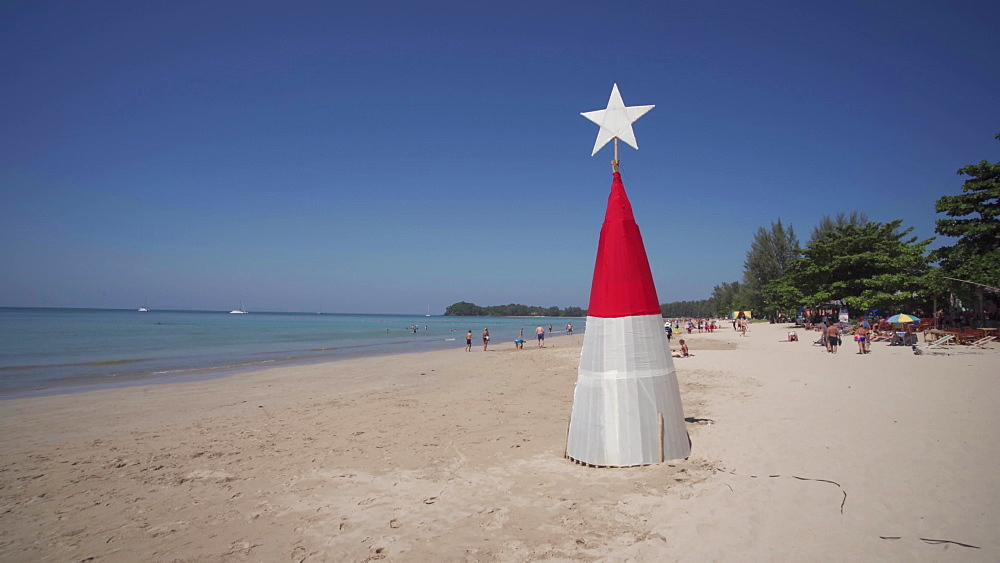 Christmas tree at Koh Lanta beach, Ko Lanta Island, Phang Nga Bay, Thailand, Southeast Asia