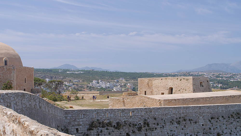 The Mosque of Sultan Ibrahim within the Fortezza, castle, Rethymnon, Crete, Greek Islands, Greece, Europe