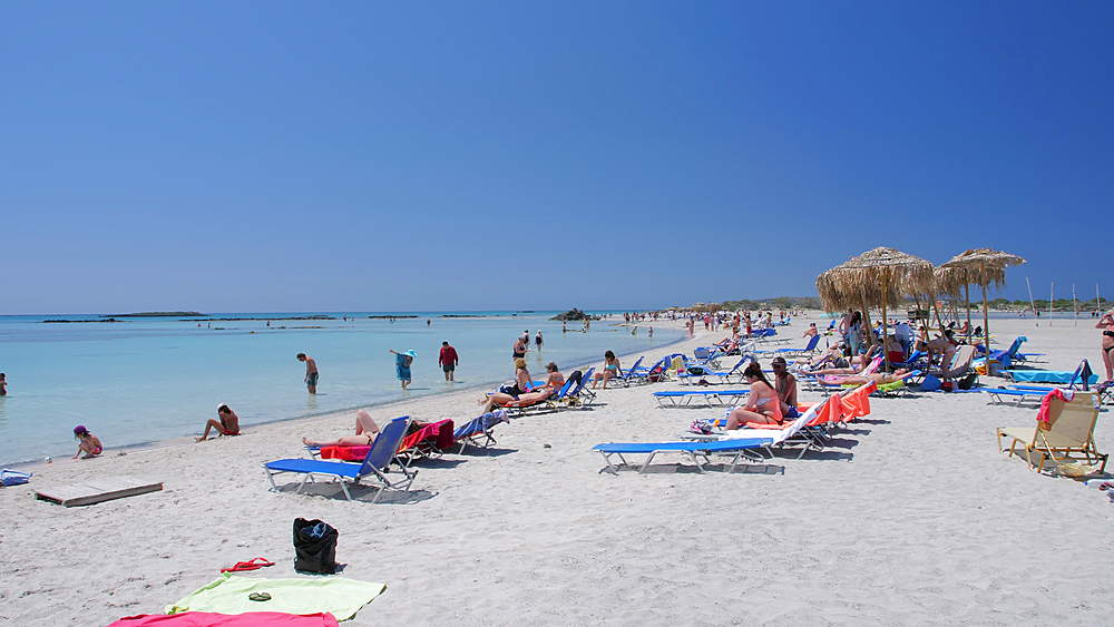 Elafonissi Beach, Chania region, Crete, Greek Islands, Greece, Europe