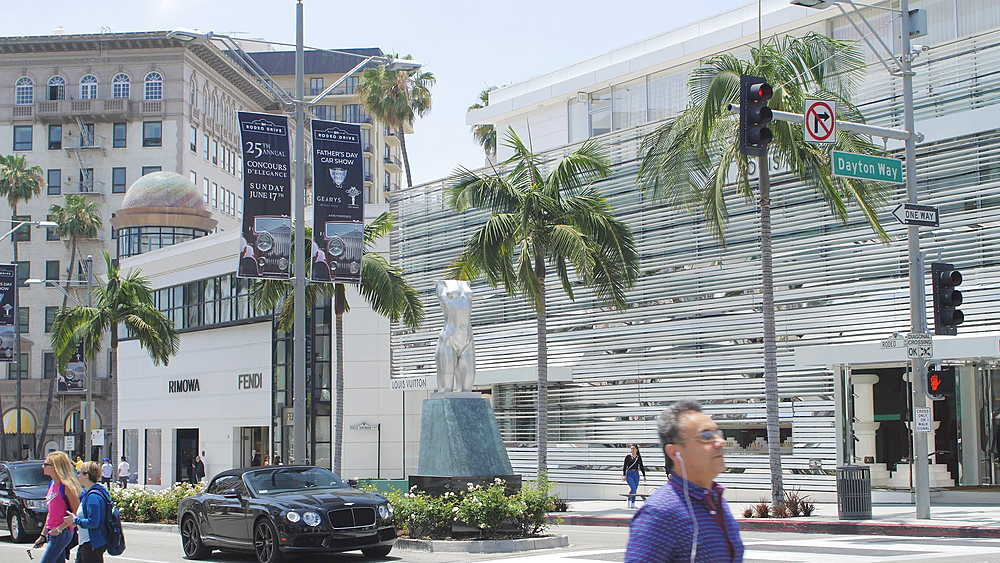 Rodeo Drive and Dayton Way, Beverly Hills, Los Angeles, LA, California, United States of America, North America - 1276-868