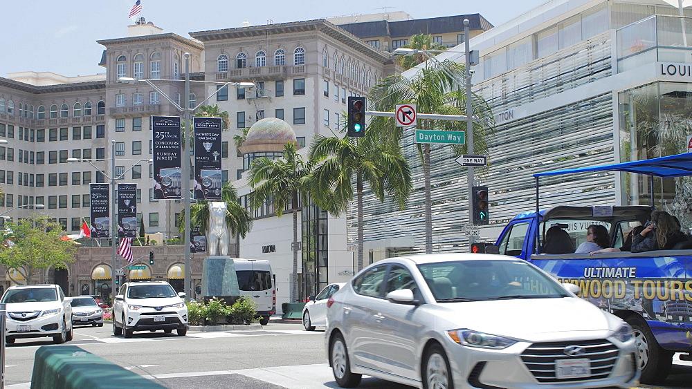 Rodeo Drive, Beverly Hills, Los Angeles, LA, California, United States of America, North America - 1276-874