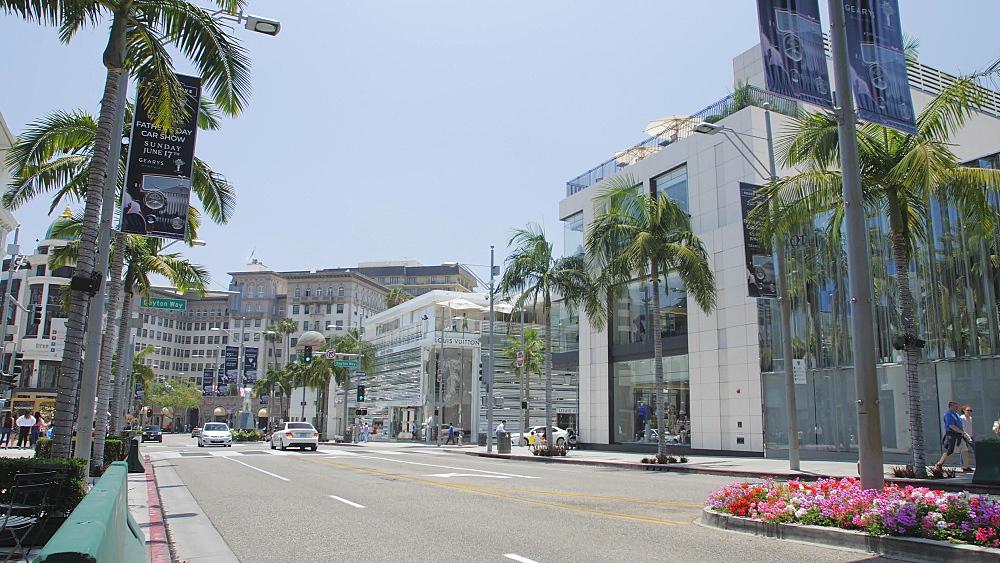 Rodeo Drive, Beverly Hills, Los Angeles, LA, California, United States of America, North America - 1276-875