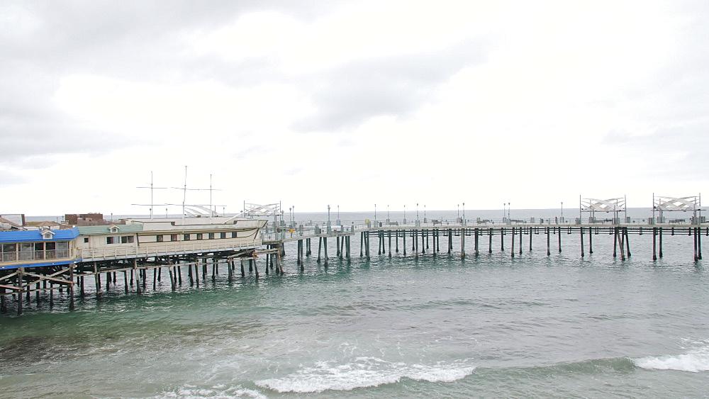 View of Pier and sea front at Redondo Beach, Los Angeles, LA, California, United States of America, North America - 1276-878