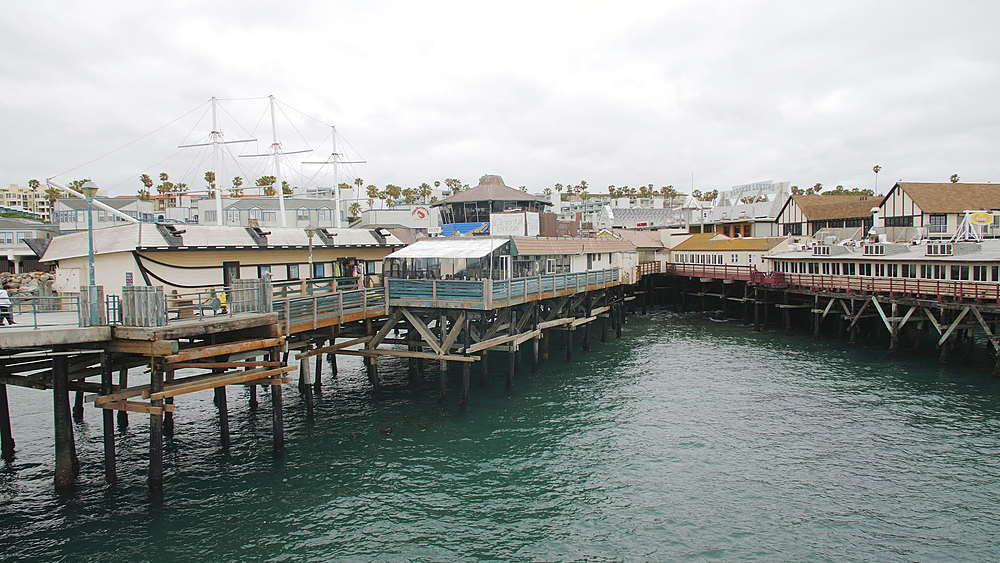 View of Pier and sea front at Redondo Beach, Los Angeles, LA, California, United States of America, North America - 1276-882
