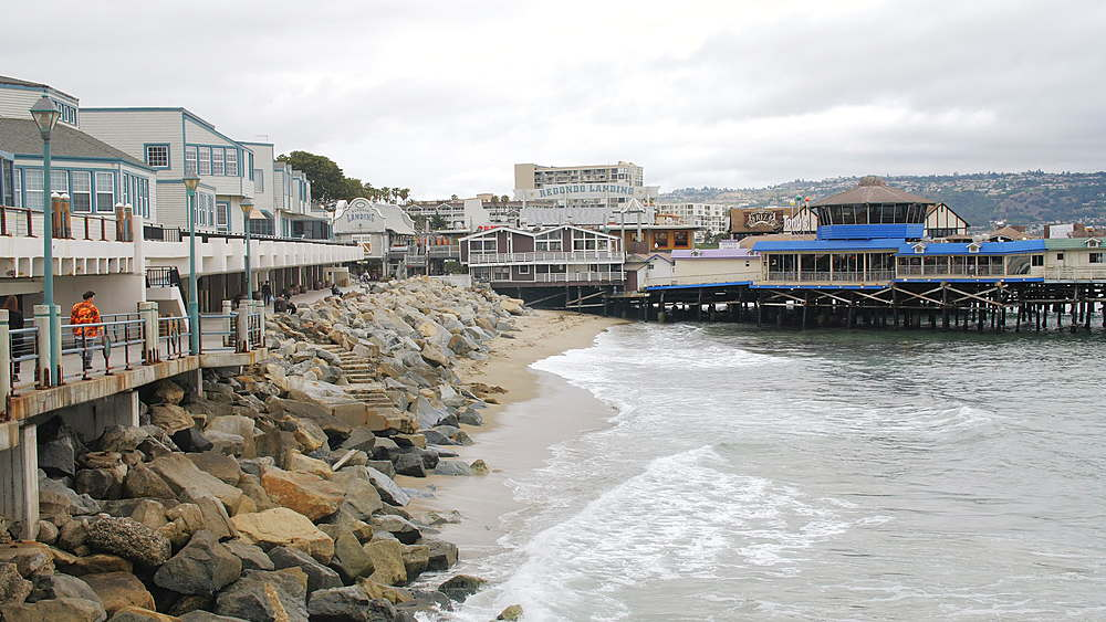 View of Pier and sea front at Redondo Beach, Los Angeles, LA, California, United States of America, North America - 1276-889