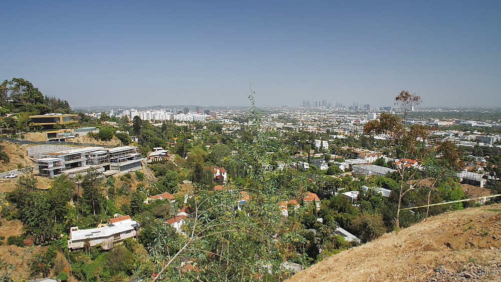 View of Downtown and Hollywood from Hollywood Hills, Hollywood, Los Angeles, LA, California, United States of America, North America - 1276-896