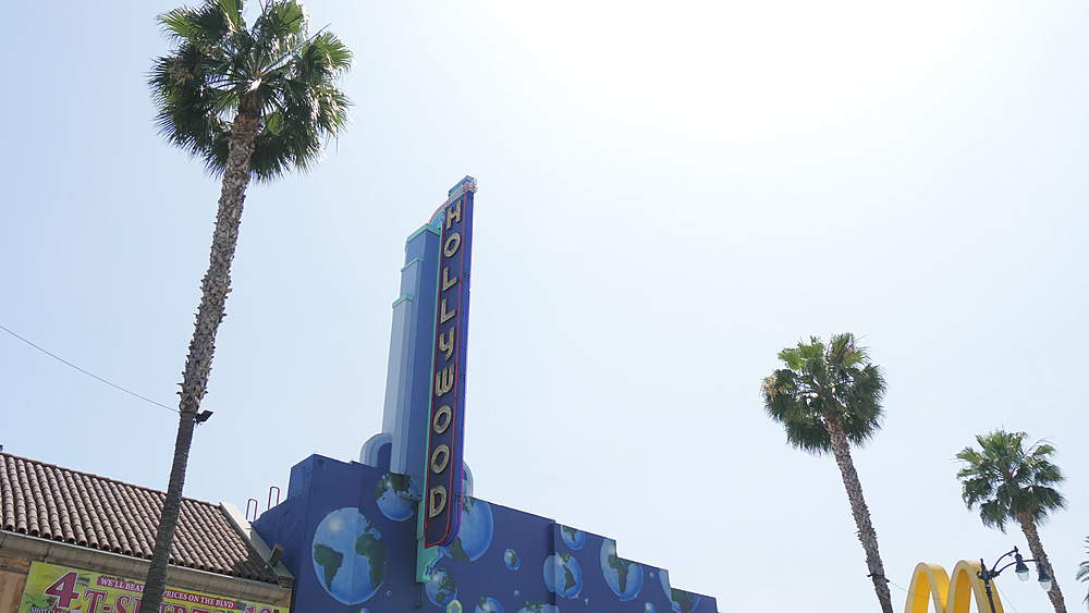 Travelling on Hollywood Boulevard with car, Hollywood, Los Angeles, LA, California, United States of America, North America - 1276-920