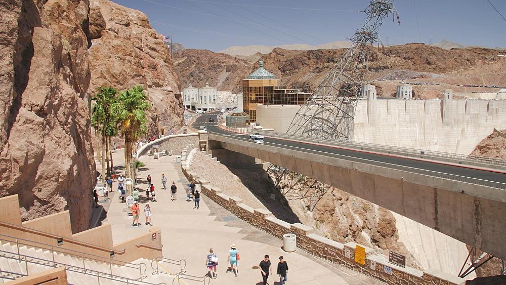 View of the wall of Hoover Dam, Nevada/Arizona border, USA, North America - 1276-959