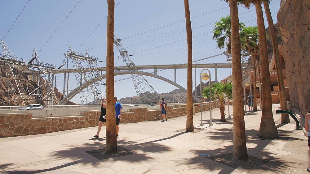 View of The Mike O Callaghan-Pat Tillman Memorial Bridge, Nevada/Arizona border, USA, North America - 1276-960